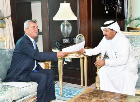 نائب رئيس مجلس الوزراء وزير الخارجية يتلقى رسالة خطية من وزير الخارجية اللبناني