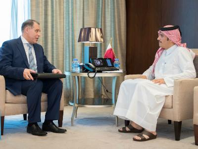 نائب رئيس الوزراء وزير الخارجية يجتمع مع الأمين العام لمنتدى الدول المصدرة للغاز