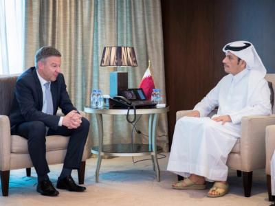 نائب رئيس مجلس الوزراء وزير الخارجية يجتمع مع المبعوث الألماني الخاص إلى أفغانستان وباكستان