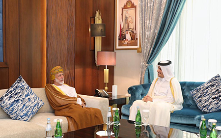 Deputy Prime Minister and Minister of Foreign Affairs Meets with Minister Responsible for Foreign Affairs of Sultanate of Oman