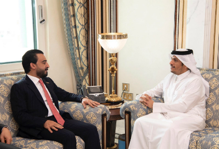 Deputy Prime Minister and Minister of Foreign Affairs Meets Iraq's Council of Representatives' Speaker