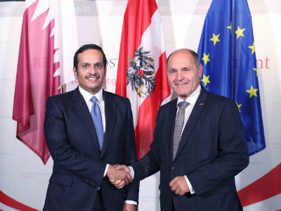 Deputy Prime Minister and Minister of Foreign Affairs Meets President of Austria Parliament