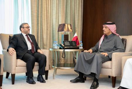 نائب رئيس مجلس الوزراء وزير الخارجية يجتمع مع رئيس المجلس الأعلى الليبي
