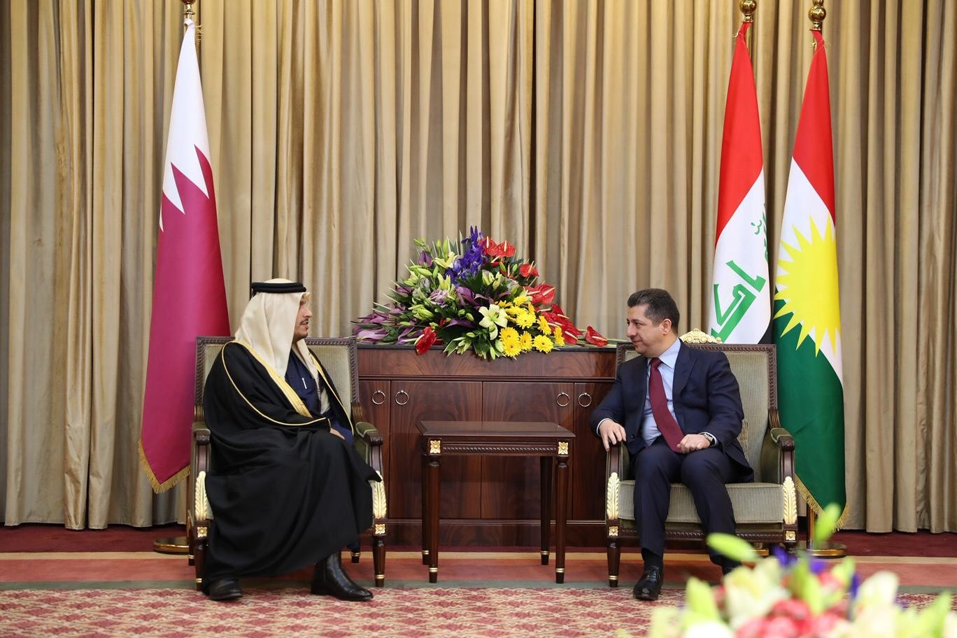 Deputy Prime Minister and Minister of Foreign Affairs Meets Prime Minister of Kurdistan Region of Iraq