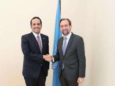 نائب رئيس مجلس الوزراء وزير الخارجية يجتمع مع عدد من المسؤولين على هامش أعمال مجلس حقوق الإنسان