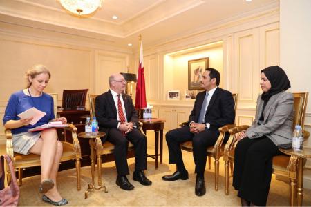 نائب رئيس مجلس الوزراء وزير الخارجية يجتمع بعدد من المسؤولين على هامش الجمعية العامة للأمم المتحدة
