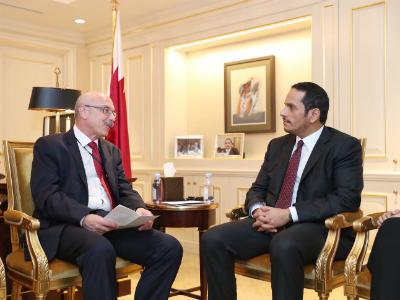 نائب رئيس مجلس الوزراء وزير الخارجية يجتمع مع عدد من المسؤولين الأممين