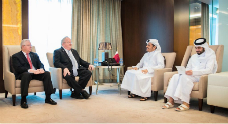 Deputy Prime Minister and Foreign Minister Meets Two Members of the US Congress