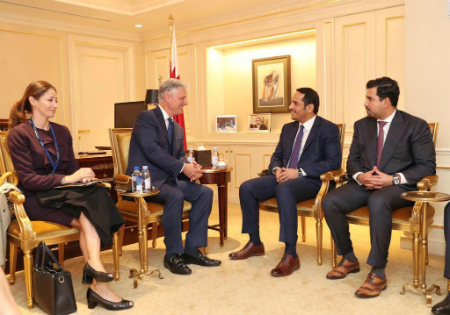 Deputy Prime Minister and Minister of Foreign Affairs Meets US Special Presidential Envoy for Hostage Affairs, ICG President
