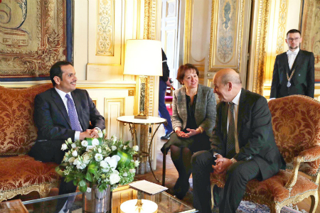 Deputy Prime Minister and Minister of Foreign Affairs Meets French Foreign Minister