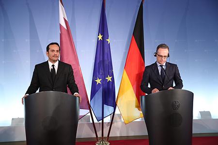 نائب رئيس مجلس الوزراء وزير الخارجية: توافق قطري ـ ألماني على ضرورة الحل السياسي في ليبيا