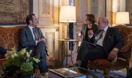 Deputy Prime Minister and Foreign Minister Meets French Foreign Minister