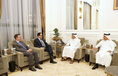 Deputy Prime Minister and Minister of Foreign Affairs Meets US Secretary of the Treasury