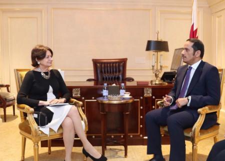 نائب رئيس مجلس الوزراء وزير الخارجية يجتمع مع وكيل الأمين العام للأمم المتحدة