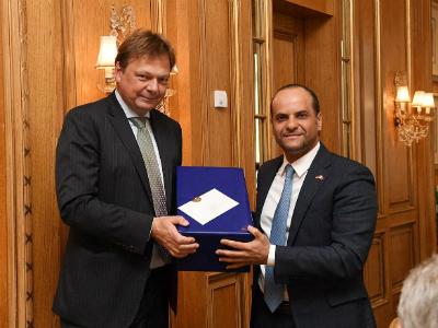 وزارة الخارجية الألمانية تقيم حفل وداع لسفير دولة قطر
