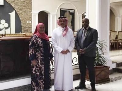 وزيرة الدولة بوزارة الثقافة الأثيوبية تجتمع مع سفير قطر