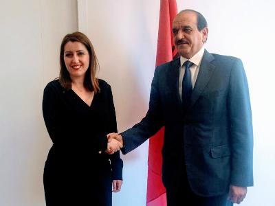 وزيرة الصحة الألبانية تجتمع مع سفير دولة قطر