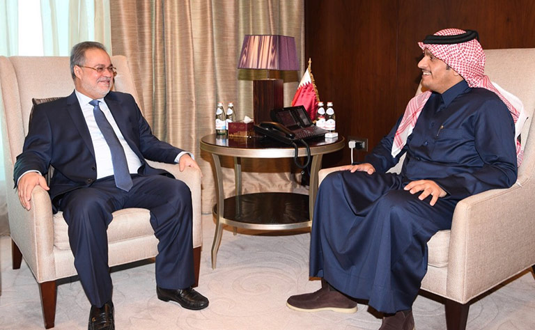 سعادة وزير الخارجية يلتقي نظيره اليمني