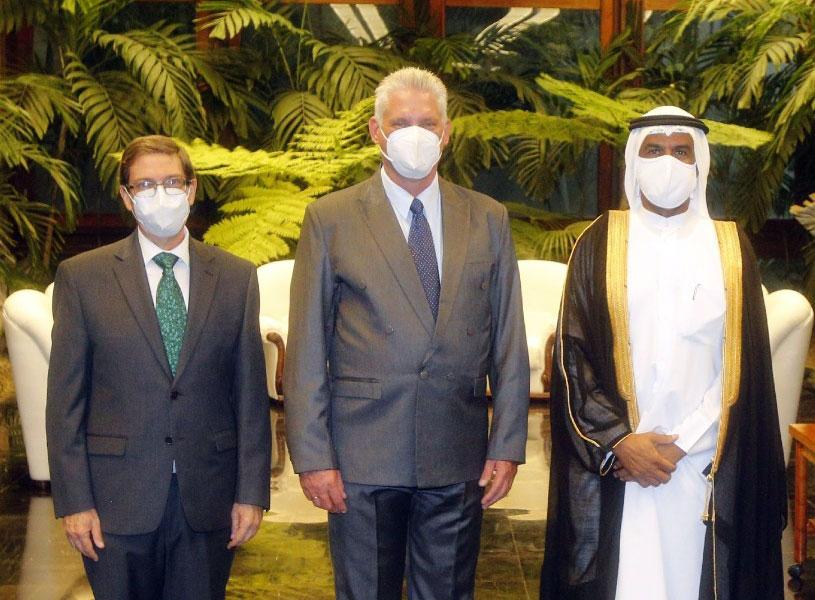 رئيس جمهورية كوبا يتسلم أوراق اعتماد سفير دولة قطر