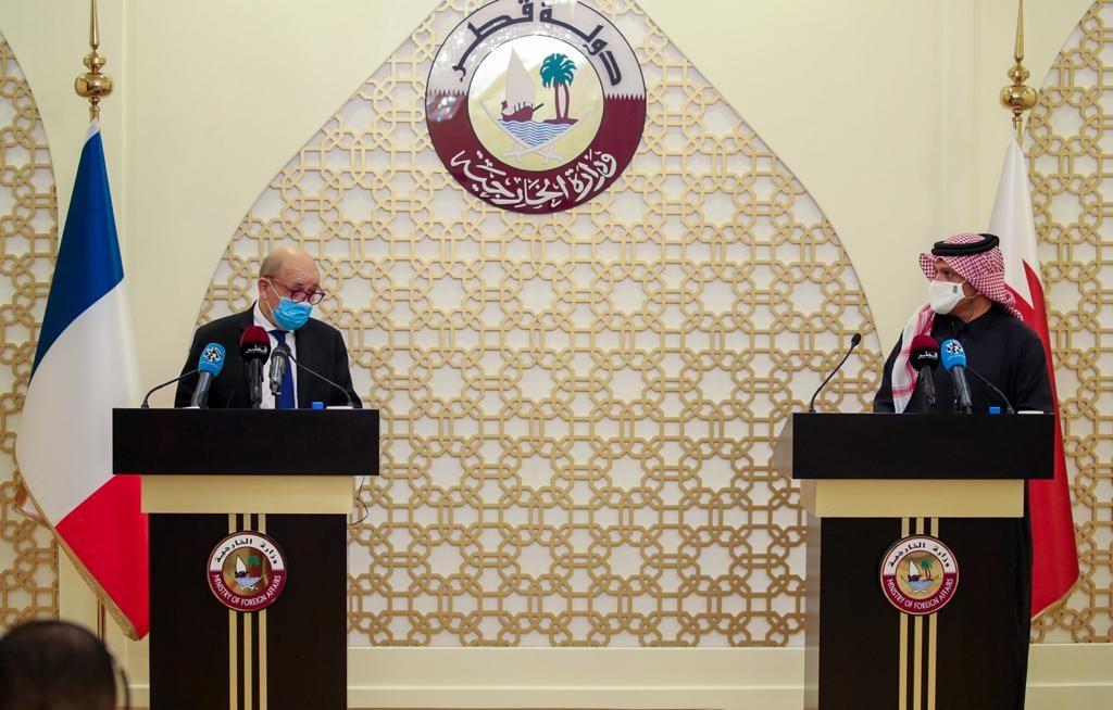 قطر وفرنسا تؤكدان على الشراكة التاريخية بينهما وضرورة مكافحة الإرهاب وحل النزاعات بالطرق الدبلوماسية