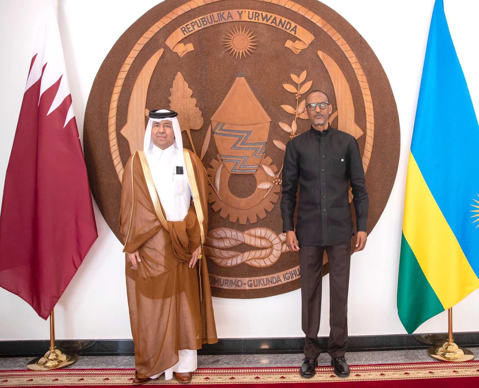 رئيس جمهورية رواندا يتسلم أوراق اعتماد سفير دولة قطر