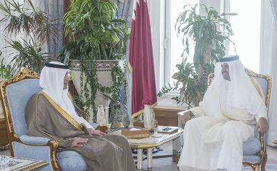 سمو الأمير يستقبل وزير الخارجية السعودي