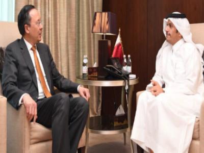 وزير الخارجية يجتمع مع نظيره الكازاخستاني