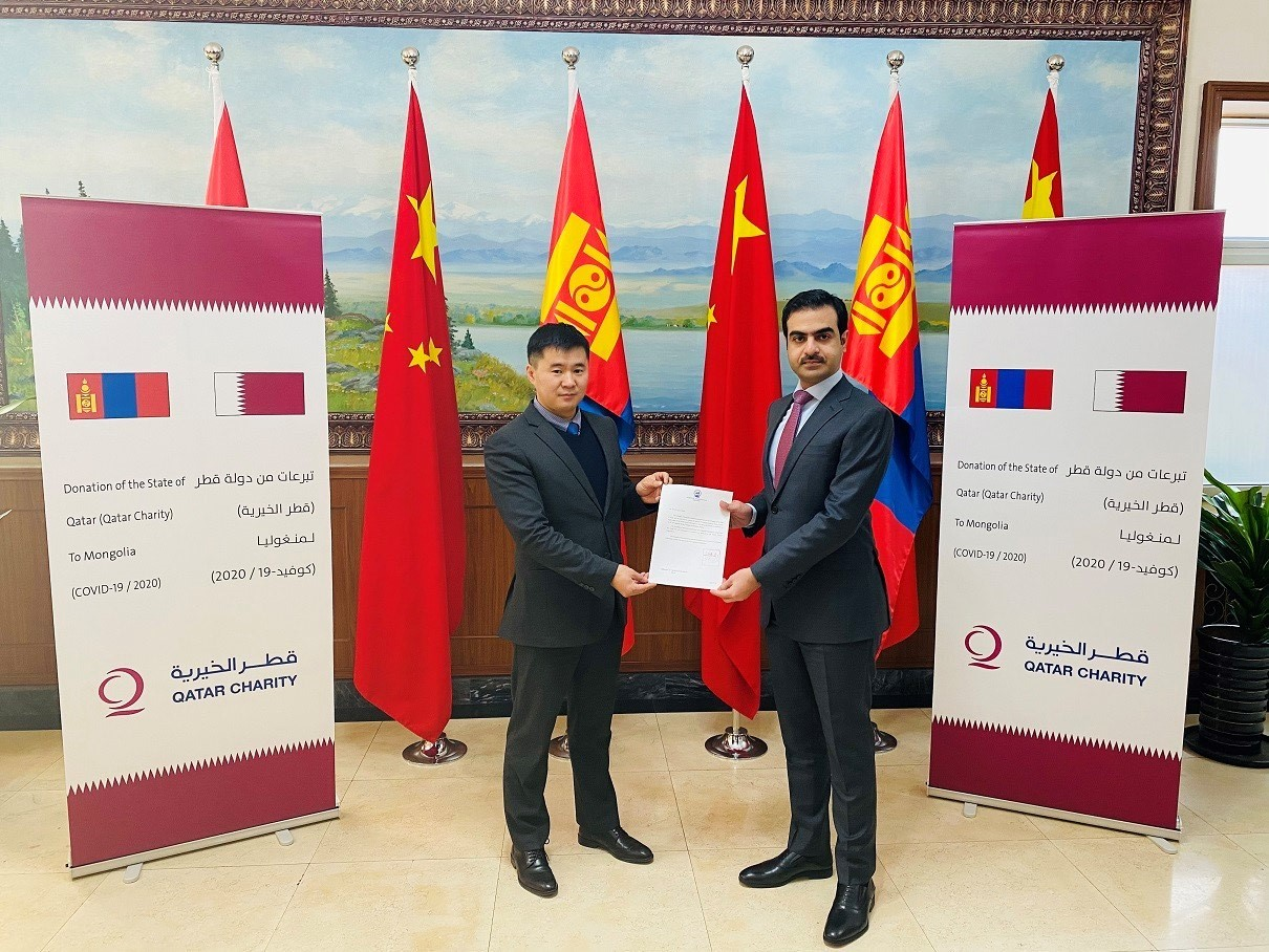 تسليم مساعدات طبية من دولة قطر إلى منغوليا