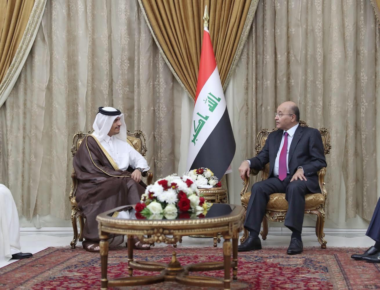 رئيس جمهورية العراق يستقبل نائب رئيس مجلس الوزراء وزير الخارجية