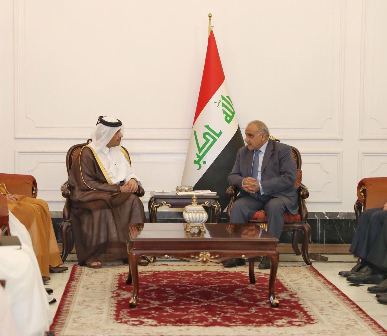 رئيس الوزراء العراقي يستقبل نائب رئيس مجلس الوزراء وزير الخارجية