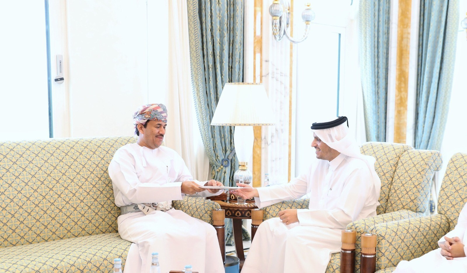 Deputy Prime Minister and Minister of Foreign Affairs receives message from Minister Responsible for Foreign Affairs of Oman