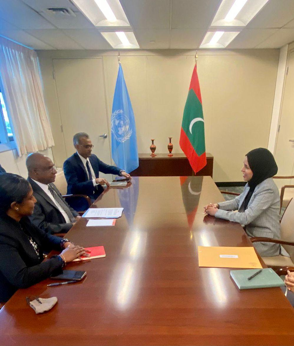 Permanent Representative of the State of Qatar to the UN Meets President-Elect of the 76th Session of the UN General Assembly