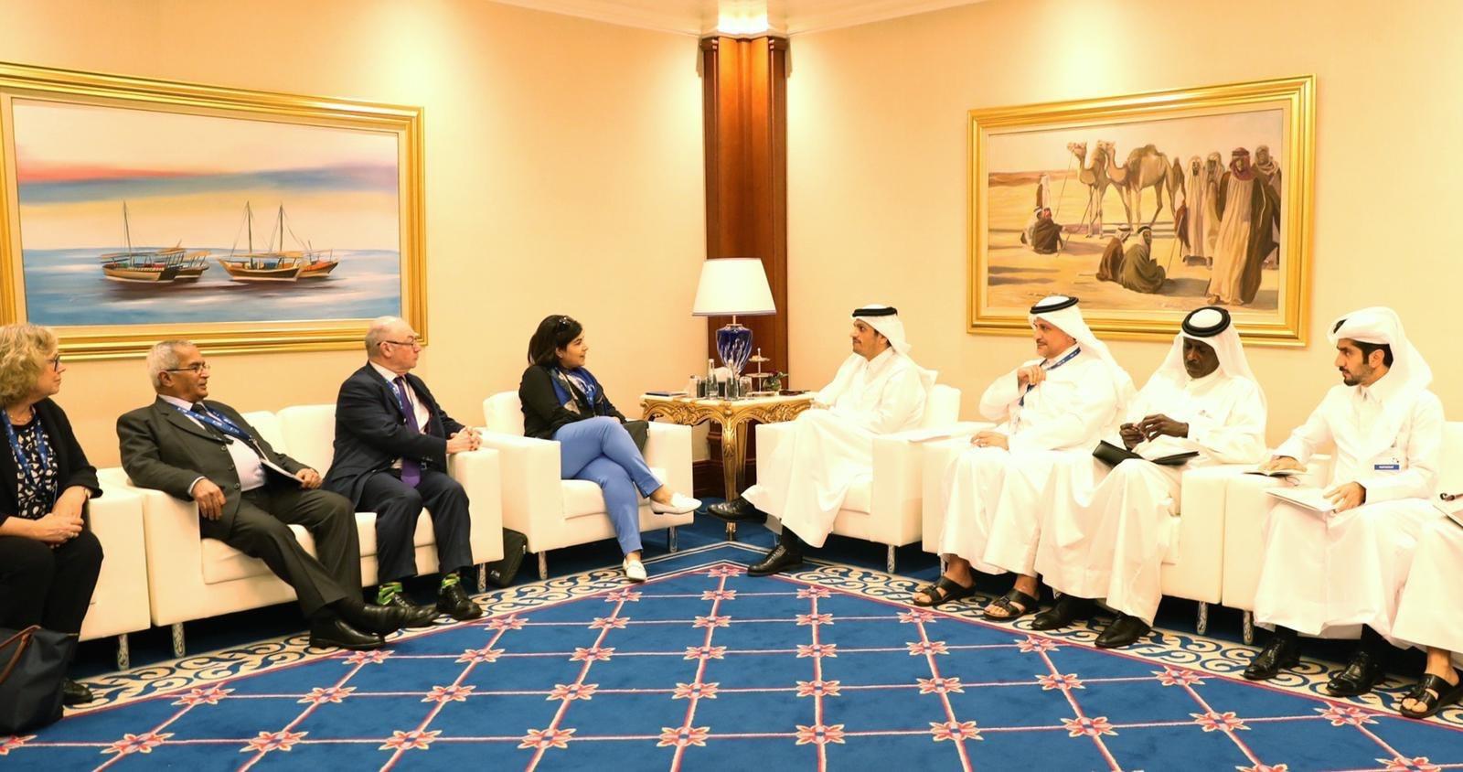 نائب رئيس مجلس الوزراء وزير الخارجية يجتمع مع عدد من أعضاء مجلس اللوردات والعموم البريطاني