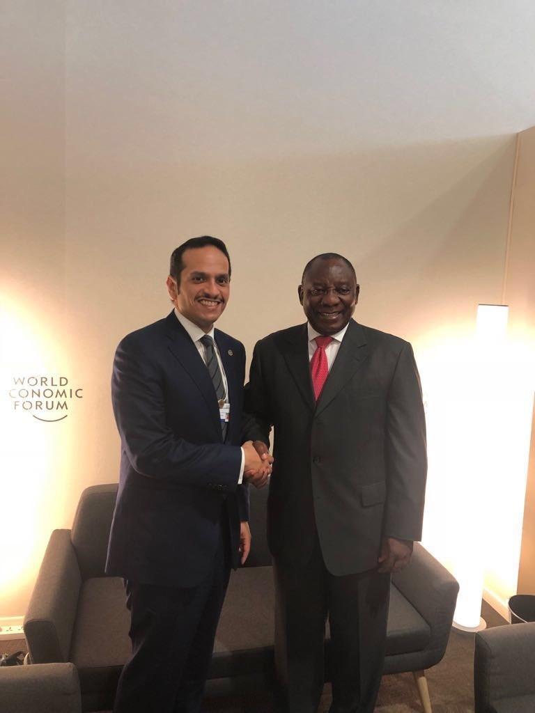 نائب رئيس جنوب أفريقيا يستقبل نائب رئيس مجلس الوزراء وزير الخارجية
