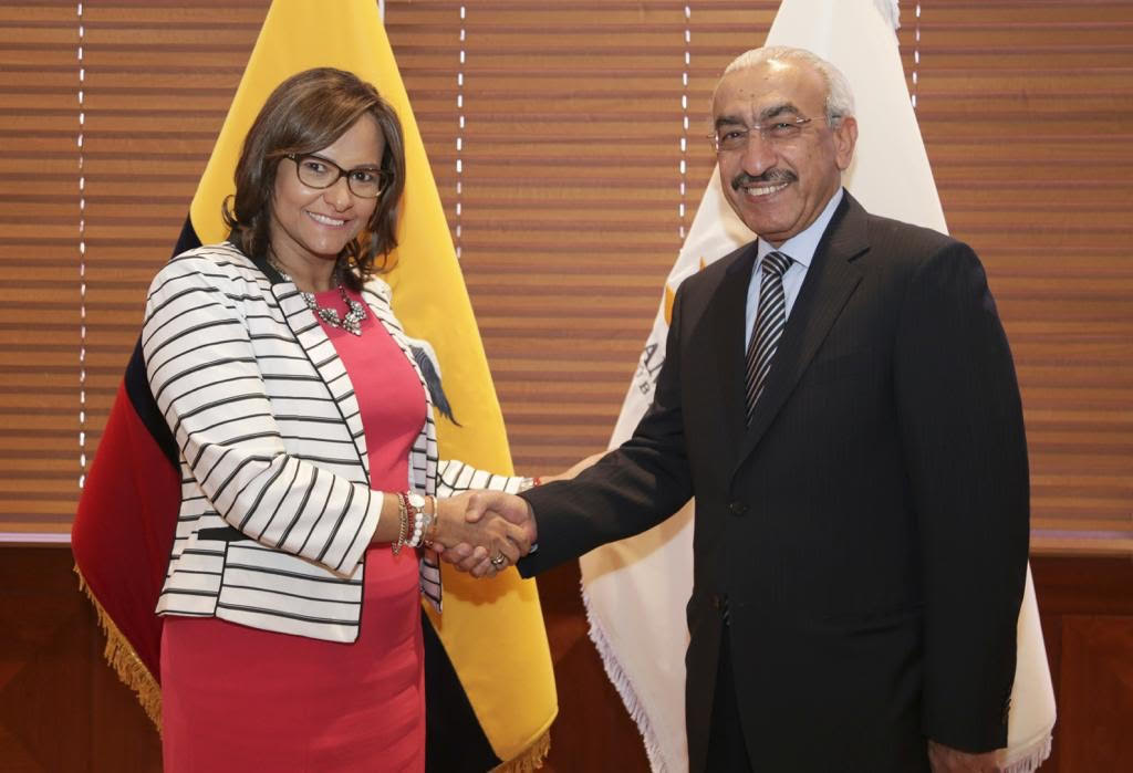 رئيسة الجمعية الوطنية الإكوادورية تجتمع مع سفير قطر
