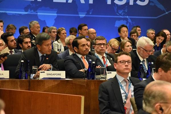 سعادة وزير الخارجية يشارك في اجتماع الدول الأعضاء بالتحالف الدولي ضد