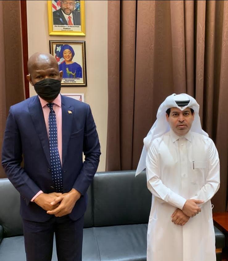 رئيس البرلمان الليبيري يجتمع مع القائم بالأعمال القطري
