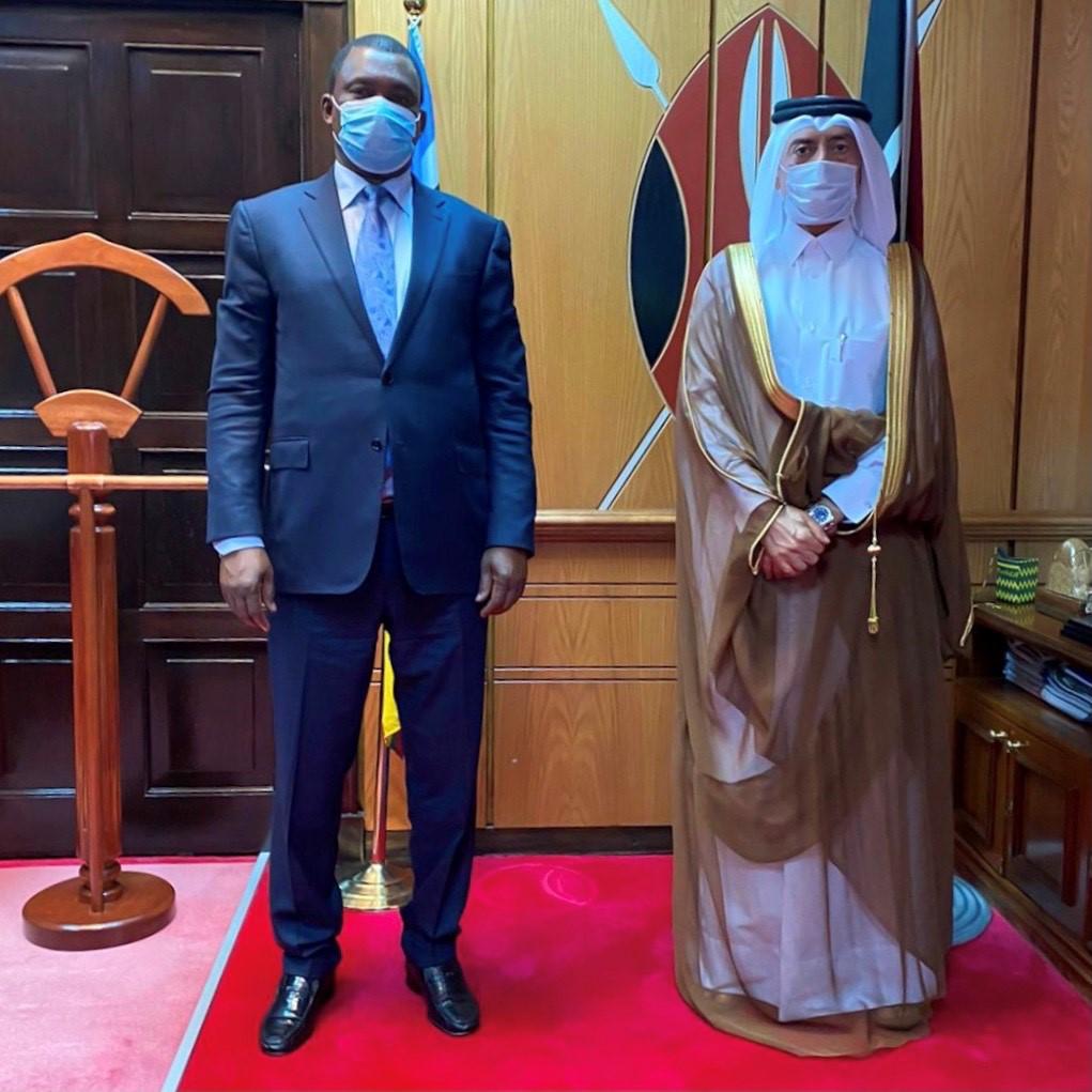 رئيس البرلمان الكيني يجتمع مع سفير دولة قطر