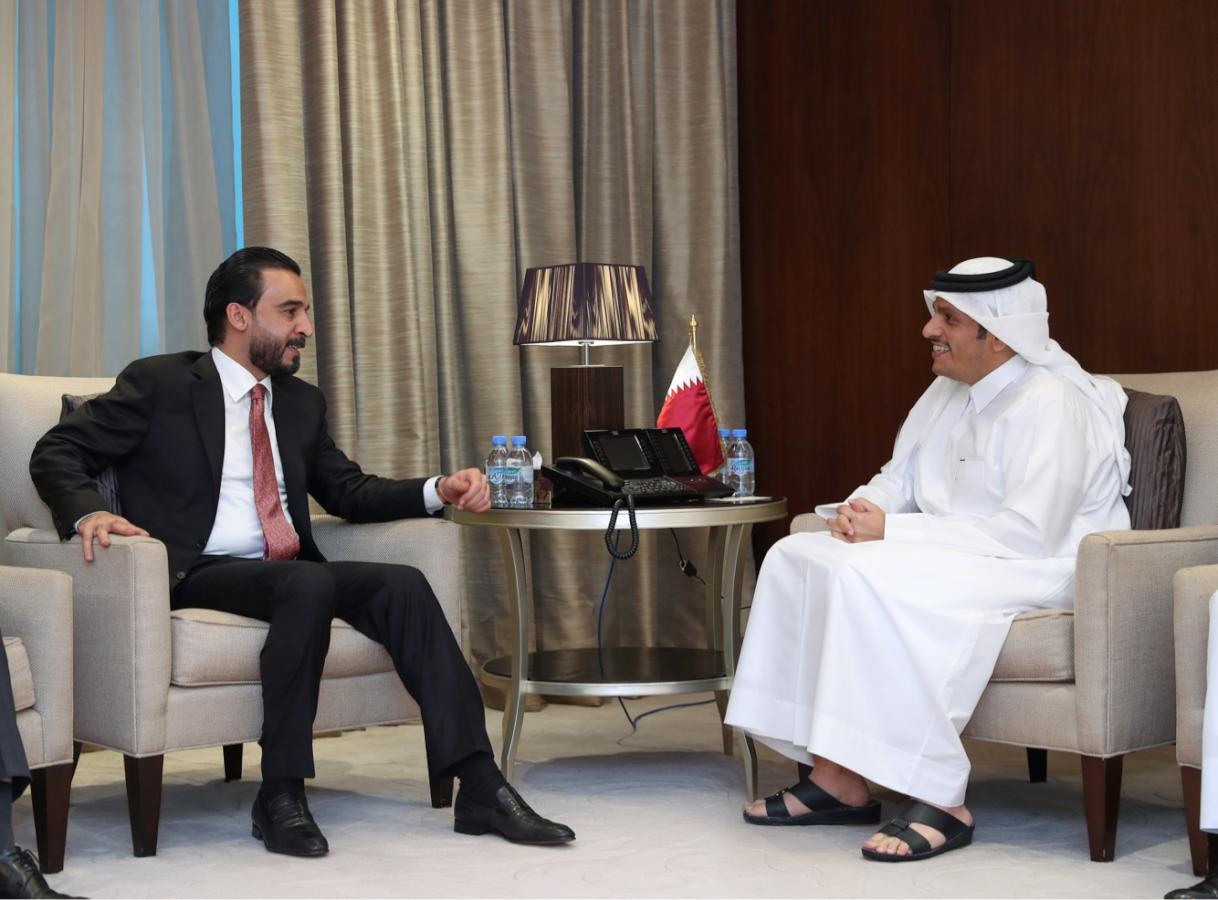 نائب رئيس مجلس الوزراء وزير الخارجية يجتمع مع رئيس مجلس النواب العراقي