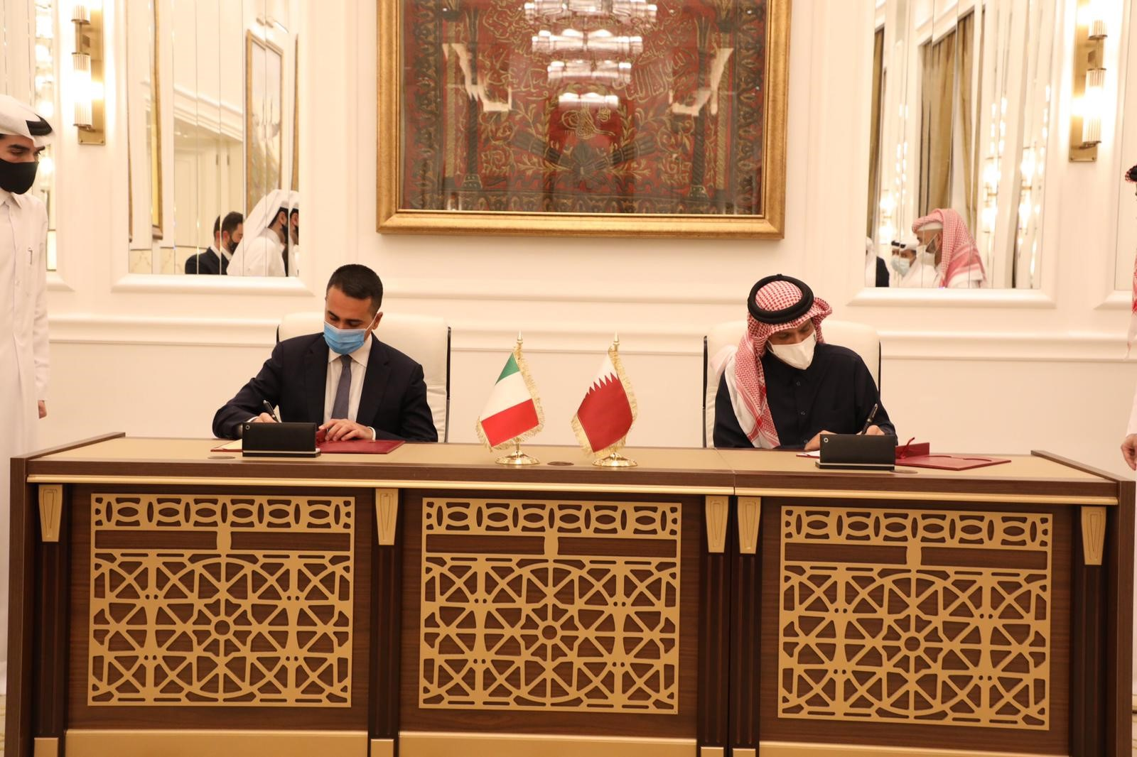 Deputy Prime Minister and Minister of Foreign Affairs Meets Italian Foreign Minister