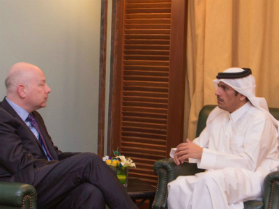 Foreign Minister of Qatar Meets US President's Middle-East Envoy