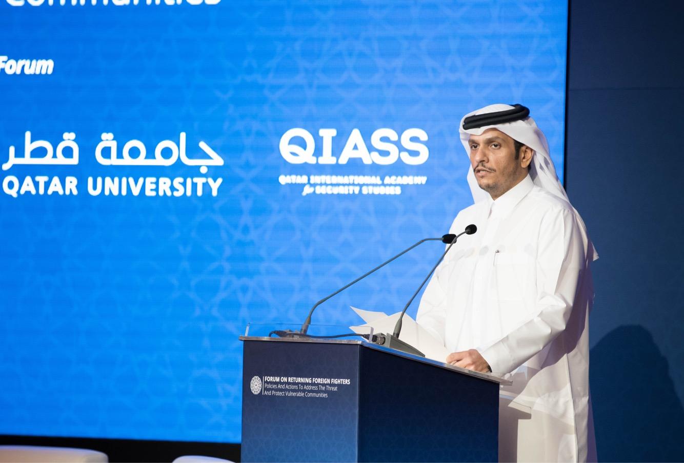 نائب رئيس مجلس الوزراء وزير الخارجية: قطر شريك فاعل في التعاضد الدولي لمواجهة الإرهاب