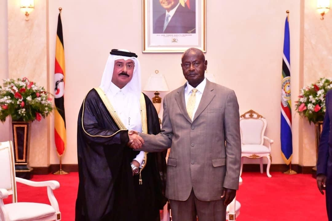President of Uganda Receives Credentials of Qatar's Ambassador