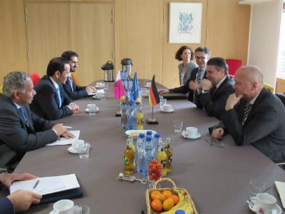 وزير الخارجية يلتقي نظيره الألماني