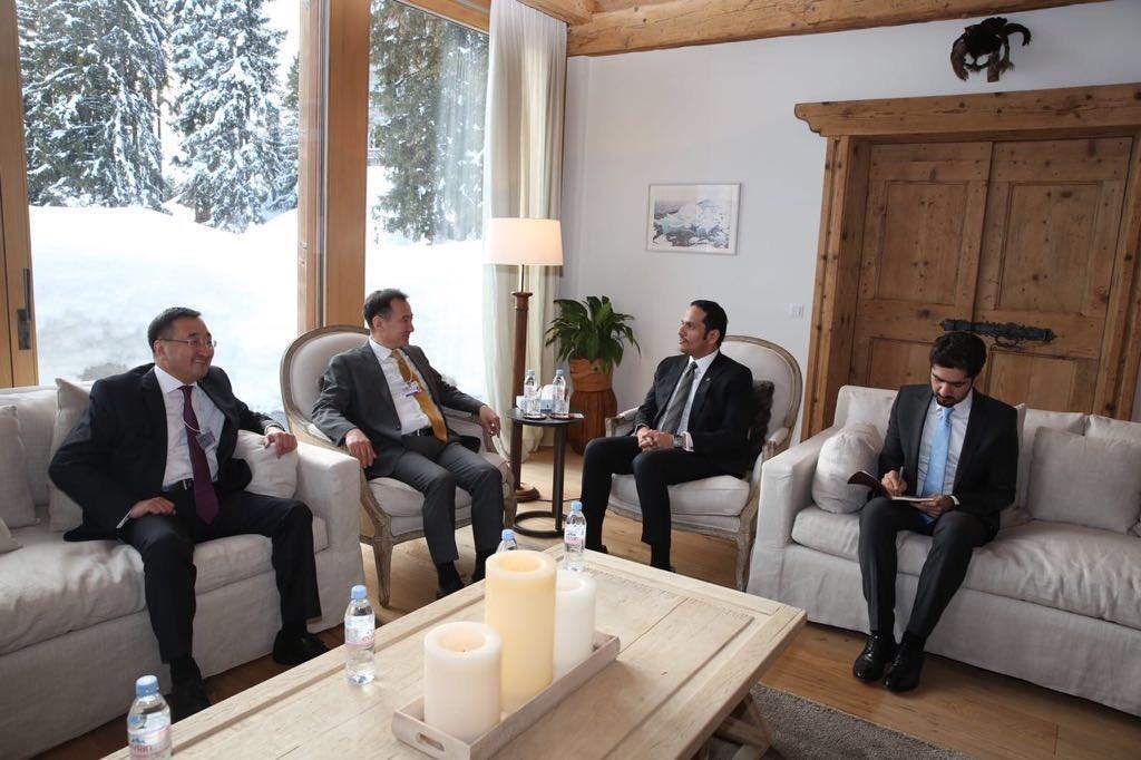 نائب رئيس مجلس الوزراء وزير الخارجية يجتمع مع وزير خارجية منغوليا