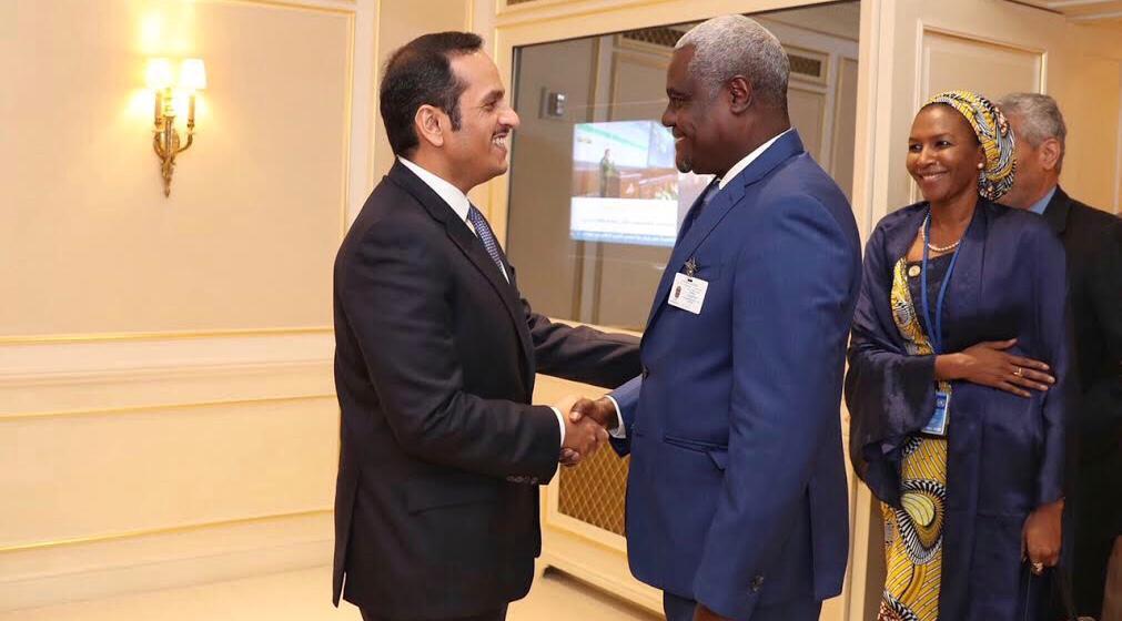 نائب رئيس مجلس الوزراء وزير الخارجية يجتمع مع رئيس مفوضية الاتحاد الأفريقي