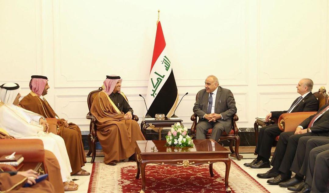 رئيس الوزراء العراقي يجتمع مع نائب رئيس مجلس الوزراء وزير الخارجية