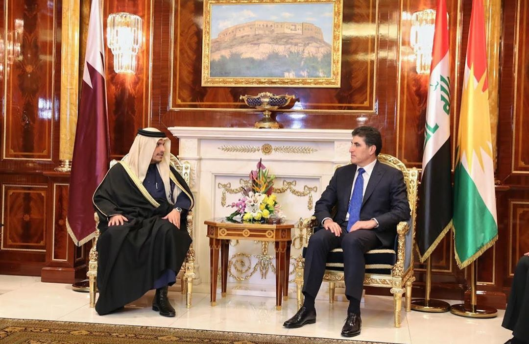 Deputy Prime Minister and Minister of Foreign Affairs Meets President of Kurdistan Region of Iraq