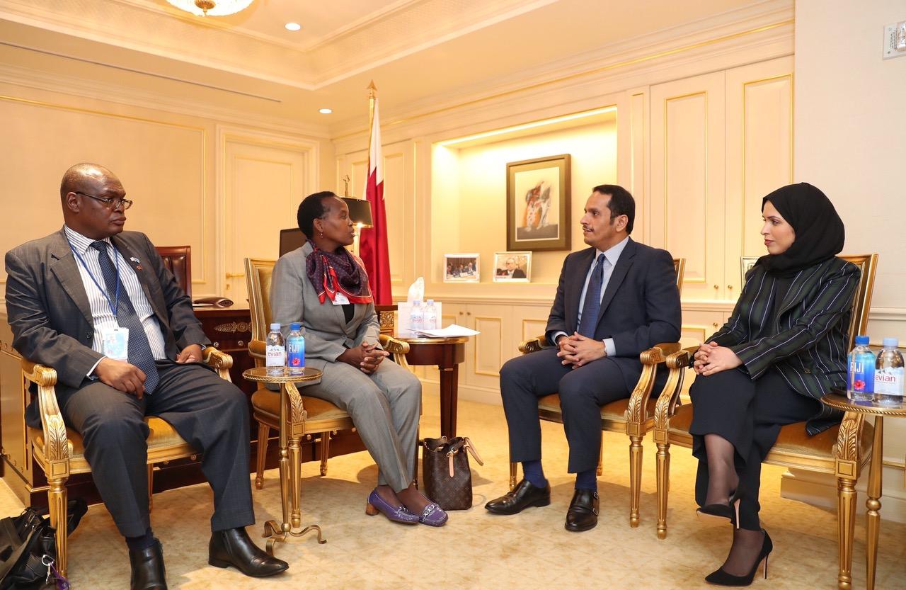 نائب رئيس مجلس الوزراء وزير الخارجية يجتمع مع عدد من وزراء الخارجية على هامش الجمعية العامة للأمم المتحدة