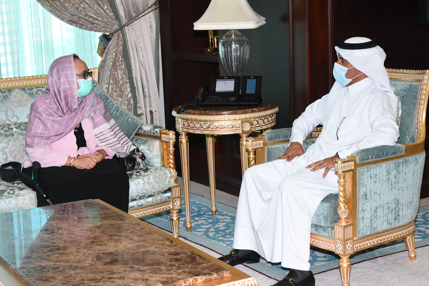 Secretary-General of Ministry of Foreign Affairs Meets the Ethiopian Ambassador